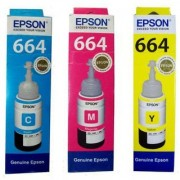 Epson T664 Tricolor Ink Pack of 3