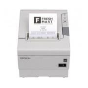 Epson TM-T88V, Impresora de Tickets, Térmica Directa, Alámbrico, Ethernet + USB, Blanco - incluye Fuente de Poder, sin Cables