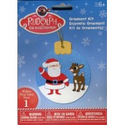 Rudolph The Red-Nosed Reindeer with Santa Claus Ornament Kit