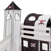 IDIMEX Donjon MAX pour lit surélevé avec toboggan, motif pirate
