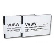 2 x batteries Li-Ion 700mAh pour Siemens Gigaset SL400, SL400H, SL610H Pro, SL780, SL785, SL788, X656 notamment. Remplace V30145-K1310K-X444 etc.