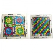 EMM EMM Pure Wood 2 In 1 Ludo and Snake Ladder (Finest Quality full set for all Age Groups)