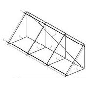Konstrukce na rovnou střechu pro 3 VSC