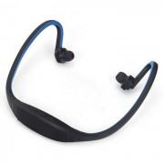 Bluetooth V4.0 estereofonia de la correa de deportes auriculares w / TF ranura - azul