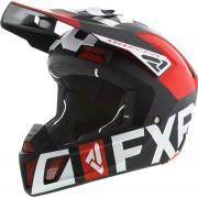 FXR Clutch Evo Capacete de motocross Preto Branco Vermelho XL