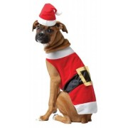 Rasta Imposta 213526 Santa Pet Costume - White-Red - Large