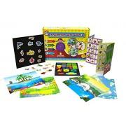 XploraBox Magnetic 3 Activities Activity kit for 4Plus Kids (Multicolour) - Set of 100