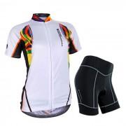 NUCKILY que completa un ciclo la corto-manga jersey + los pantalones cortos - blanco (xxl)