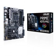 ASUS AMD X370 ATX motherboard with one-click 5-Way Optimization, GPU-temp sensing for cooler gaming, plus