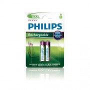 Battery, Philips Rechargeable, LR03 AAA, 800 mAh, 2-blister (HR03), for CORDLES PHONE (R03B2A80/10)