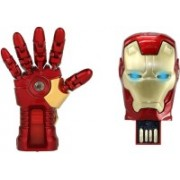 DARK EDGE Iron Man Hand 16 GB Pen Drive Metal Hand with Glowing LED Hand WITH Iron Man Head 16 Gb Usb Pen Drive Metal Face With Glowing Led Eyes Pack of 2 Pendrive 16 GB Pen Drive(Red, Gold)