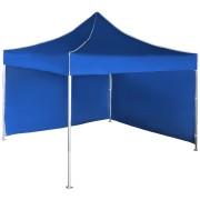 Gyorsan összecsukható sátor 3x3 m - alumínium, Kék, 2 oldalfal
