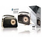 KONIG Radio Portable DAB+ FM / AM / DAB / DAB+ AUX Noir