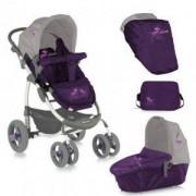 Детска комбинирана количка - Аvio Violet and Grey, Lorelli, 075617