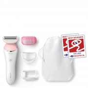 Philips Depiladora eléctrica SatinShave Advanced Wet and Dry BRL140/00 con 4 fijaciones de Philips