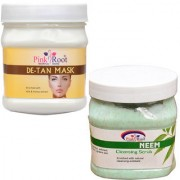 PINK ROOT DE TAN MASK 500GM WITH NEEM SCRUB 500GM