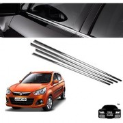 Trigcars Maruti Suzuki Alto K10 Car Window Lower Garnish Chrome