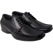 Kovvoc Genuine Leather Casual Office Use Wedding Formal Shoes For Mens And Boys Lace Up For Men black