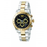 Invicta Watches Invicta Men's 9224 Speedway Collection S Series Two-Tone Stainless Steel Watch with Link Bracelet BlackSilver