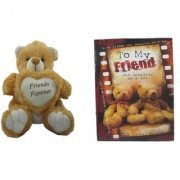 Teddy Bear Soft Toy Friend for Ever & Card Dear Friends for Sister