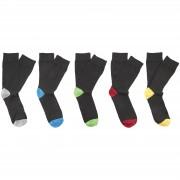 Brave Soul Pack de 5 calcetines Brave Soul Sol - Hombre - Negro (40-46)