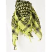 PLO / ARAFAT shawl lime/zwart
