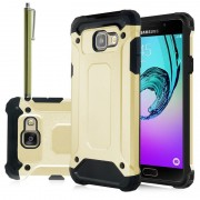 Samsung Galaxy A5 (2016) Sm-A510f A510m A510fd A5100 A510y: Coque Antichoc Rugged Armor Neo Hybrid Carbone + Stylet - Or (Gold)