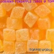 Dobsons Pineapple Cubes Traditional Gluten free Sweets