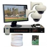 GW Security VD2CHH4 4 CH HD-SDI DVR 2 x HD-SDI 1/3-Inch 2.1 Megapixel CMOS Camera, 1080P 2.8 to 12 mm Lens, 30-IR LED, 82-Feet IR Distance