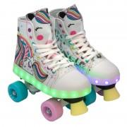 Patine cu rotile pentru fetite X-Spot, marime 34-35, lumini LED color