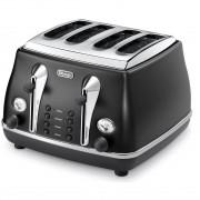 DeLonghi Icona Classic 4-slice toaster - Onyx Black