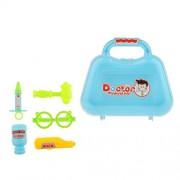 MagiDeal Children Pretend Role Play Toys Plastic Doctor Nurse Tools Kit Fun Playing Game Blue C#