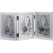 VonHaus okvir za fotografije za 3 slike 10x15cm sive boje