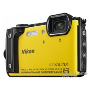 Aparat foto Nikon Coolpix W300 Holiday kit, galben