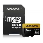 UHS-II U3 MicroSDXC 64GB class 10 + adapter AUSDX64GUII3CL10-CA1
