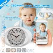 Orologio Sveglia Wifi IP Camera Clock HD Cellulare Telecamera Nascosta Led Invibili 940nm