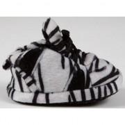 Geen Baby slofjes zebra zwart/wit