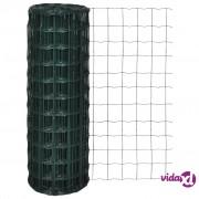 vidaXL Euro ograda čelična 10 x 1,2 m zelena