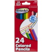 RoseArt Colored Pencils, 24-Count, Assorted Colors, Packaging May Vary (1069AA-48)