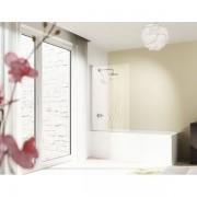 Huppe Design pure 1 delige badklapwand 75x150cm chroom look antiplaque gl 8p1901092322