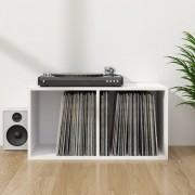 vidaXL Кутия за съхранение на грамофонни плочи, бяла, 71x34x36 см, ПДЧ
