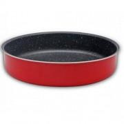 Тава за печене SAPIR SP 1222 P28, 28 см, Незалепващо покритие, Червена