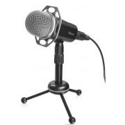 Microfon Gaming Trust RADI 21752, Jack 3.5mm, USB, trepied (Negru)