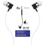 High Bass Wired EarPhone With Mic Hi-Resolution Pure Voice Brand new Music Experience(WHITE-BLHFK 250)
