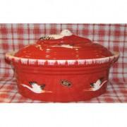 Poterie BECK Terrine storich 6 L / poterie d'Alsace / rouge
