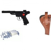 Prijam Air Gun Btm-007 Model With Metal Body For Target Practice Combo Offer 300 Pellets With Cover Air Gun