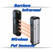 Barriere infrarossi wireless e cavo, sistema pet immune per allarmi antifurti 433 Mhz