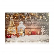 Atmospheric LED picture Canvas Church