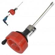 vidaXL Ръчно-електрически уред за почистване на тръби, 8 м