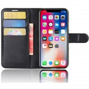 Louiwill Soporte De Cuero Multifuncional De La Cubierta De La Caja De La Cartera Del Tirón Del Cuero Para El Iphone X